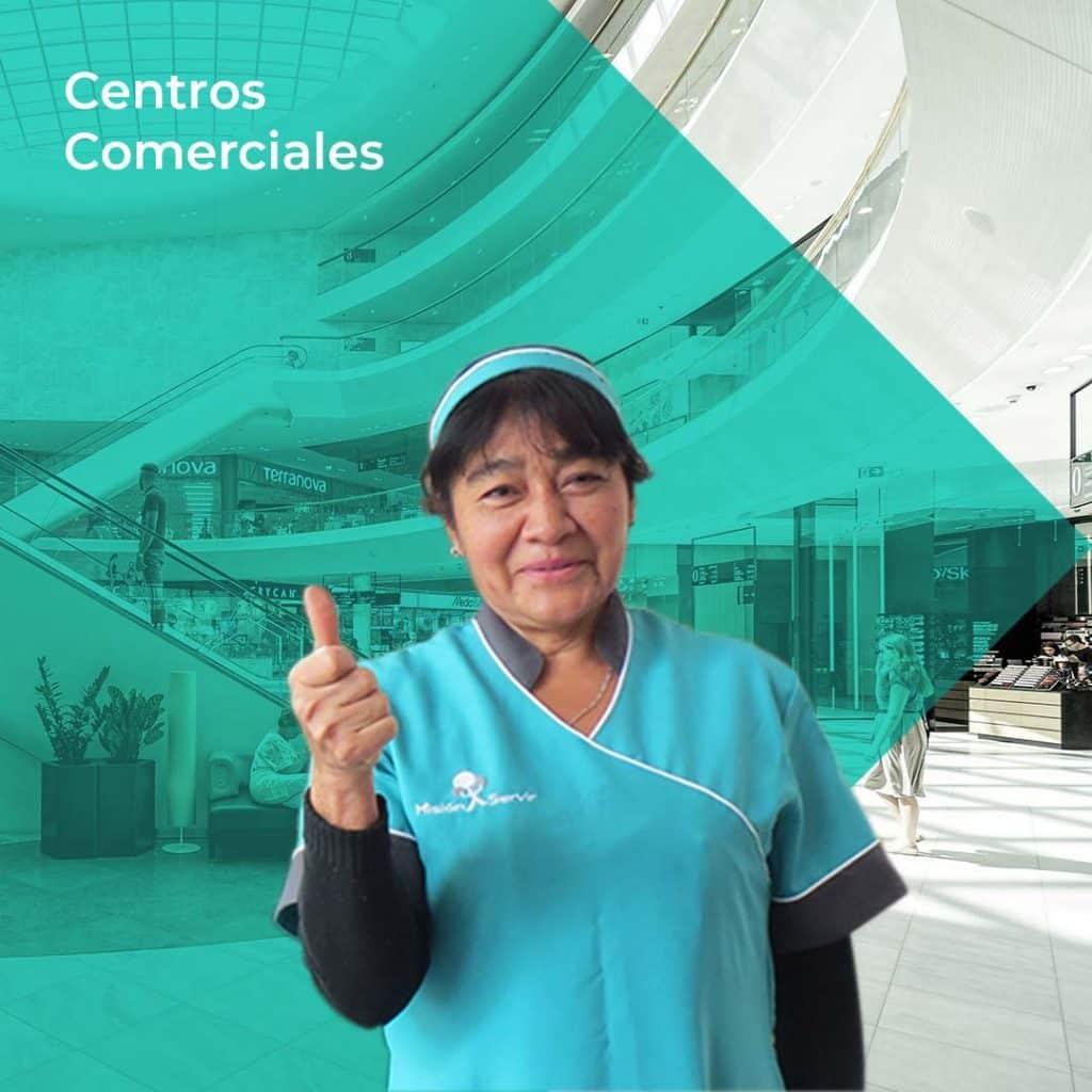 Aseo y limpieza en Centros Comerciales - Misión Servir