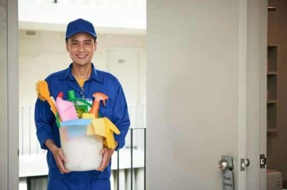 Profesionales de limpieza
