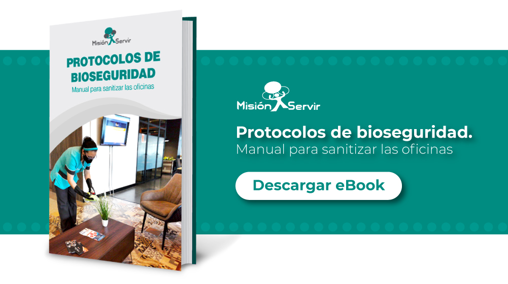 Descargue ahora los Protocolos de Bioseguridad, Manual para sanitizar las oficinas - Misión Servir